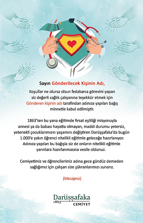 Sağlık Çalışanları Bağış Sertifikası